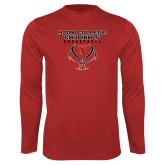 Performance Red Longsleeve Shirt-York College Cardinals Basketball