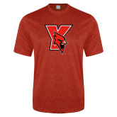 Performance Red Heather Contender Tee-Cardinal