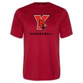 Performance Red Tee-Basketball