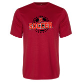 Performance Red Tee-York College Soccerball