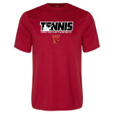 Performance Red Tee-Tennis Stacked