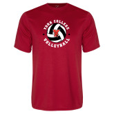 Performance Red Tee-Volleyball Circle