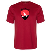 Performance Red Tee-York College and Shield