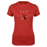 Ladies Syntrel Performance Red Tee-Cardinal