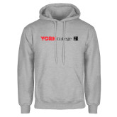 Grey Fleece Hoodie-York College with CUNY Square