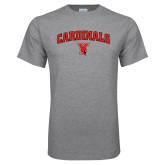 Grey T Shirt-Cardinals Arched with Cardinal