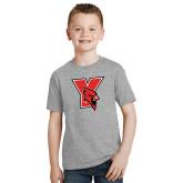 Youth Grey T-Shirt-Cardinal