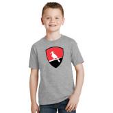 Youth Grey T-Shirt-Shield Logo
