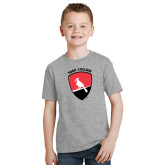Youth Grey T-Shirt-York College and Shield