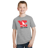 Youth Grey T-Shirt-YC with Perched Cardinal