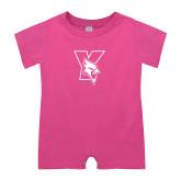 Bubble Gum Pink Infant Romper-Cardinal