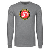 Grey Long Sleeve T Shirt-York College 50th Anniversary