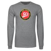 Grey Long Sleeve T Shirt-York College 50th Anniversary