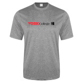 Performance Grey Heather Contender Tee-York College with CUNY Square