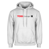 White Fleece Hoodie-York College with CUNY Square