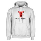 White Fleece Hoodie-Track & Field