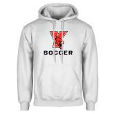 White Fleece Hoodie-Soccer