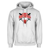 White Fleece Hoodie-Cardinals Softball