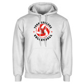 White Fleece Hoodie-Volleyball Circle