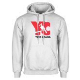 White Fleece Hoodie-YC with Perched Cardinal
