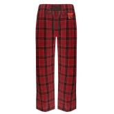 Red/Black Flannel Pajama Pant-Cardinal