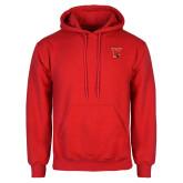 Red Fleece Hoodie-Cardinal
