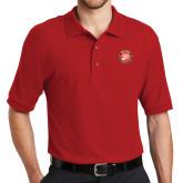 Red Easycare Pique Polo-York College 50th Anniversary