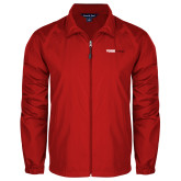Full Zip Red Wind Jacket-Official Logo
