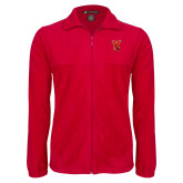 Fleece Full Zip Red Jacket-Cardinal