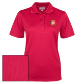 Ladies Red Dry Mesh Polo-York College 50th Anniversary