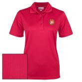 Ladies Red Dry Mesh Polo-York College 50th Anniversary