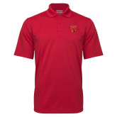 Red Mini Stripe Polo-Cardinal