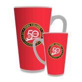 Full Color Latte Mug 17oz-York College 50th Anniversary