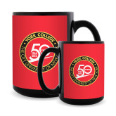 Full Color Black Mug 15oz-York College 50th Anniversary