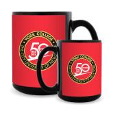 Full Color Black Mug 15oz-York College 50th Anniversary