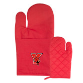 Quilted Canvas Red Oven Mitt-Cardinal