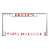 Metal License Plate Frame in Chrome-Grandpa