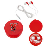 Ear Buds in Red Case-Cardinal