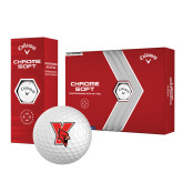 Callaway Chrome Soft Golf Balls 12/pkg-Cardinal