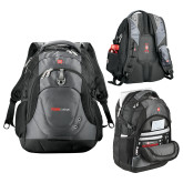 Wenger Swiss Army Tech Charcoal Compu Backpack-Officlal Logo