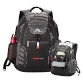 High Sierra Big Wig Black Compu Backpack-Officlal Logo