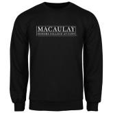 College Black Fleece Crew-Official Logo