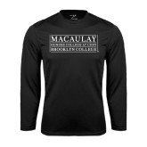 College Performance Black Longsleeve Shirt-Brooklyn College