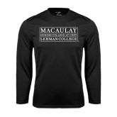 College Performance Black Longsleeve Shirt-Lehman College