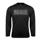 College Performance Black Longsleeve Shirt-College of Staten Island