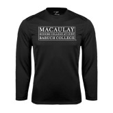 College Performance Black Longsleeve Shirt-Baruch College