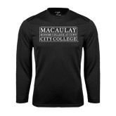 College Performance Black Longsleeve Shirt-City College