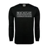 Black Long Sleeve TShirt-Lehman College