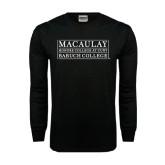 Black Long Sleeve TShirt-Baruch College