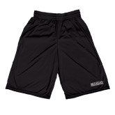 College Russell Performance Black 10 Inch Short w/Pockets-Official Logo